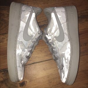 Gray Reflective Camouflage air force ones